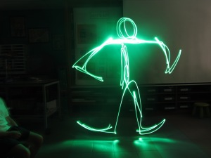 Gesture drawing with light.